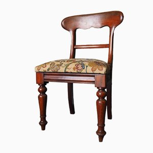 Victorian Mahogany Dining Chair with Floral Upholstery