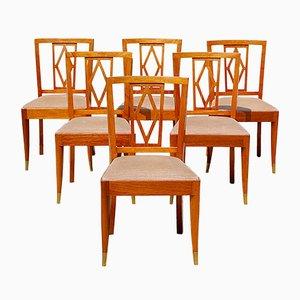 Art Deco Esszimmerstühle von De Coene, 6er Set