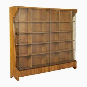 Italian Mahogany & Glass Bookcase, 1950s
