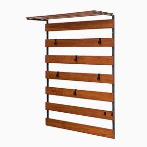 Perchero holandés con barras de madera, años 50