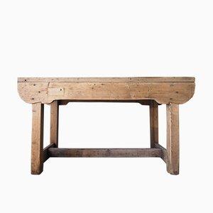 Tavolo da lavoro vintage rustico in legno