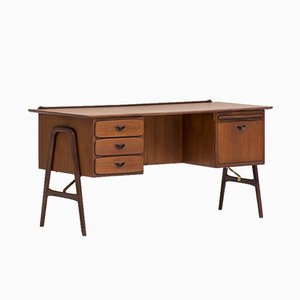 Writing Desk by Louis van Teeffelen for WéBé, 1950s