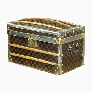 Vintage French Checkerboard Trunk