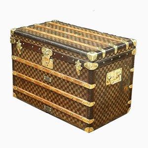 Baule vintage a scacchi prima edizione di Louis Vuitton