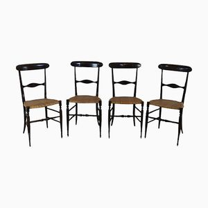 Model Campanino Chiavarina Chairs, 1950s, Set of 4