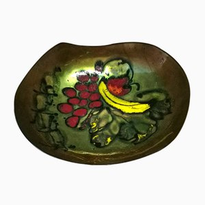 Italian Enameled Metal Bowl from Laurana, 1950s