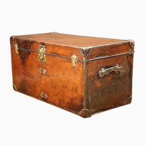 Large Vintage Leather Trunk from Louis Vuitton