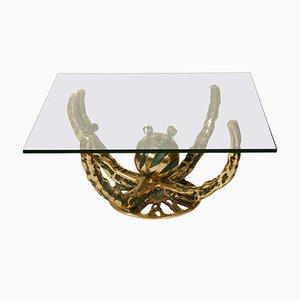 Table Basse Sculpturale Vintage par Henri Fernandez