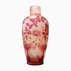 Art Nouveau Cameo Glass Vase from Cristallerie de Pantin, 1910s