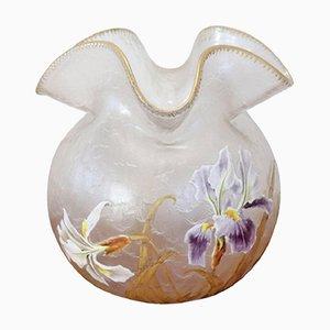 Vaso Art Nouveau trasparente di Legras Mont Joye, anni '10