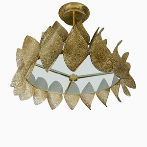 Vintage Murano Glass Leaf Chandelier