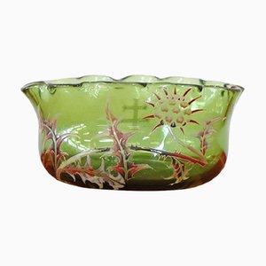 Vase Vert Art Nouveau en Verre d'Emile Gallé, 1880s