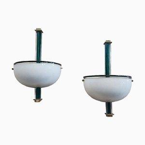 Lámparas de pared de Venini, años 90. Juego de 2