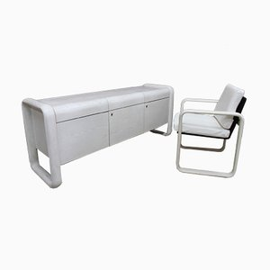 Hombre Sideboard & Lounge Chair by Burkhard Vogtherr for Rosenthal, 1960s