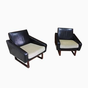 Sled Base Armchair, 1960s, Set of 2
