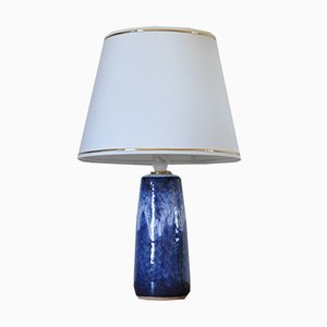Glazed Ceramic Table Lamp from Valholm Keramik, 1960s