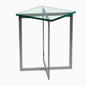 Table d'Appoint en Chrome, 1970s