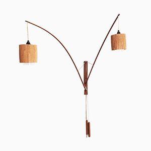 Lámpara de pared modernista de Rupprecht Skrip para Skrip Leuchten, años 50