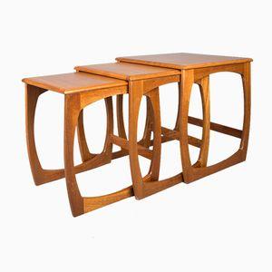 Mesas nido vintage de teca de Sunelm