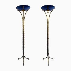 Stehlampen von Maison Baguès, 1970er, 2er Set