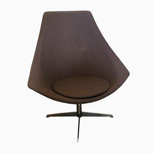 Chaise Pivotante Vintage avec Pied Chromé, Scandinavie