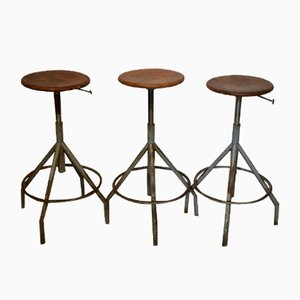 Architect's Stools, 1950s, Set of 3