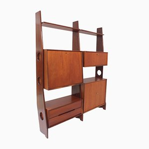 Teak Wood Wall Unit, 1960s