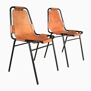 Vintage Leather Chairs, 1950s, Set of 2