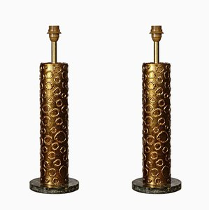 Brutalist Table Lamps, 1970s, Set of 2
