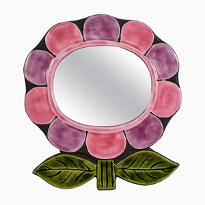 Keramik Spiegel von Catherine Benito, 1976