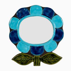 Specchio in ceramica di Catherine Benito, anni '70