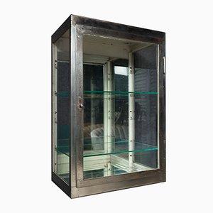 Mid-Century Polished Steel Medical Cabinet