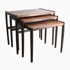 Mid-Century Rosewood Nesting Tables
