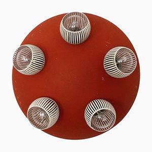 Lámpara italiana de techo o pared, años 50