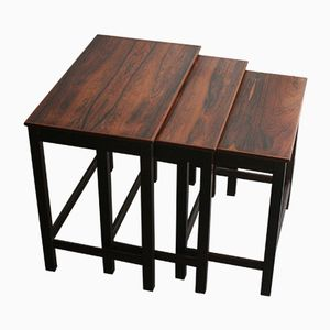 Mid-Century Rosewood Stackable Nesting Tables