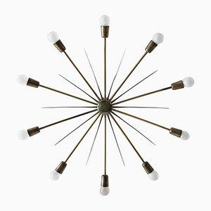Lámpara de techo modelo 5160 Sputnik grande en forma de sol de Kalmar, años 50