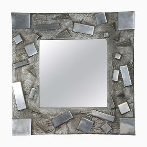 Cast Aluminium Mirror by Martens, 1970s