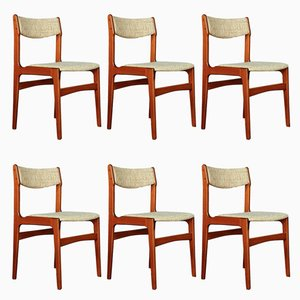 Mid-Century Danish Teak Chairs by Erik Buch, 1960s, Set of 6