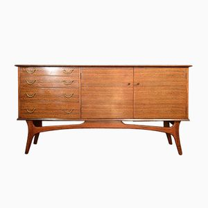 Vintage Walnut Sideboard by Alfred Cox for Heal's