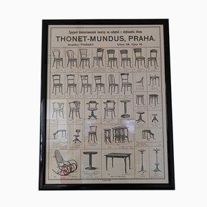 Affiche Mobilier Thonet, 1926