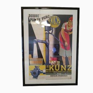 Cartel publicitario Art Déco de Melantrich, años 30