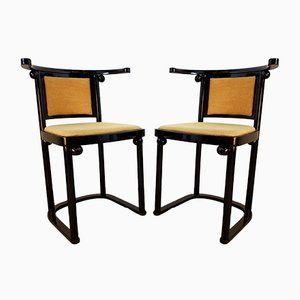Vintage Fledermaus Dining Chairs by Josef Hoffmann for Wittmann, Set of 2