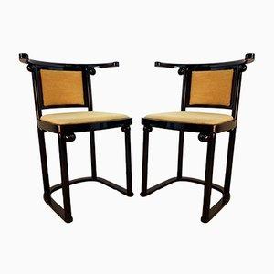 Vintage Fledermaus Esszimmerstühle von Josef Hoffmann für Wittmann, 2er Set
