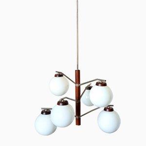 Lampe à Suspension Scandinave Mid-Century avec 6 Globes