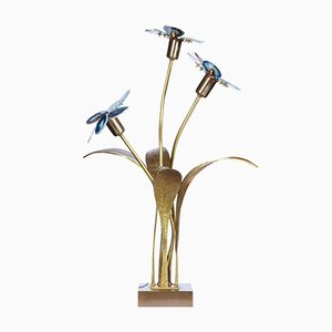 Agate Flowers Table Lamp by Willy Daro, 1970s
