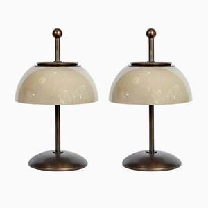 Vintage Mushroom Table Lamps, Set of 2