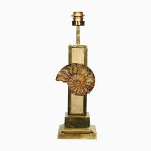 Lampe en Bronze avec Ammonite par Van Heeck, 1970s