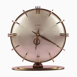 Horloge de Table Soleil avec Réveil Mid-Century de Europa, 1960s