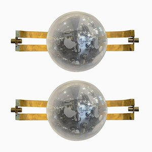 Vintage Space Age Sconces, Set of 2