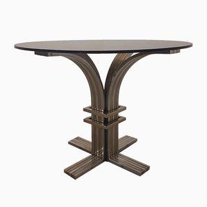 Table Vintage en Laiton & Acier par Romeo Rega